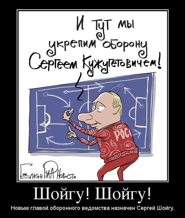 Президент поменял Сердюкова на Шойгу