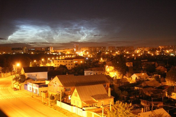 Челябинск: северное сияние
