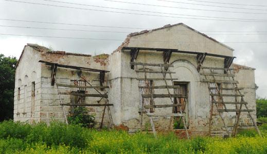 Восстанавливается храм Иоанна Дамаскина, с. Подкуровка
