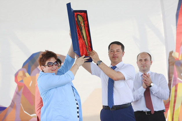 Огонь XXVII Всемирной летней универсиады-2013 в Ульяновске