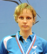 Савельева Антонина Георгиевна - мастер спорта России по настольному теннису
